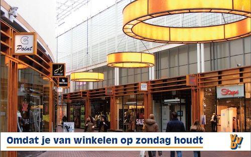 VVD Site winkelen op zondag